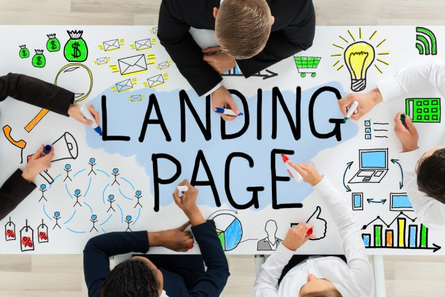 Implemente landing pages